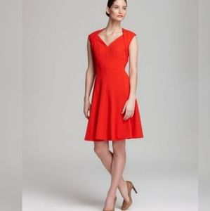 Calvin Klein Red Fit n' Flare Dress